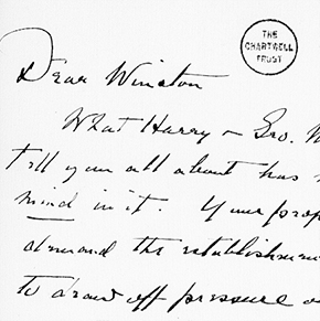 Letter from Franklin Roosevelt to Winston Churchill